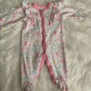 Baby girl footed one piece